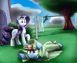 absurdres clothesline highres otakuap owned rainbow_dash rarity