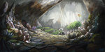 background_ponies cave changeling highres nemo2d original_character scenery spitfire starlight_glimmer trees
