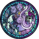 akili-amethyst applejack coloratura highres pinkie_pie stained_glass svengallop