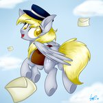derpy_hooves hat highres mail saddlebags shyshyoctavia