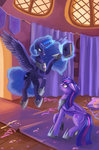 book highres kirillk magic maytee princess_luna princess_twilight twilight_sparkle