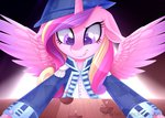 clothes hat highres not_that_kind_of_shipping princess_cadance scarlet-spectrum ship toys