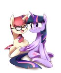 glasses highres moondancer princess_twilight sion-ara twilight_sparkle