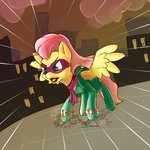 costume fluttershy highres power_ponies saddle_rager whazzam95