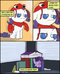 book book_fort comic costume dog_fort filly fort lobster parody rarity twilight_sparkle valcron