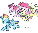 fluttershy imminent_snuggles pinkie_pie rainbow_dash rwlart shipping