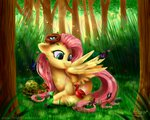 bird butterfly egg fluttershy forest frostykat13 nest squirrel tortoise tree