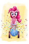 absurdres cannon clrb confetti highres pinkie_pie