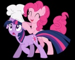 chef_hat fim_crew glamourkat hat pinkie_pie transparent twilight_sparkle