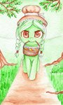 0okami-0ni basket filly granny_smith highres traditional_art