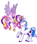 highres princess_cadance shining_armor valkyrie-girl