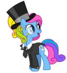 g3 rainbow_dash_(g3) rainbow_dash_always_dresses_in_style tophat tuxedo tzolkine