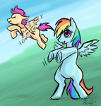 rainbow_dash scootaffection scootaloo viperviolist