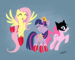 batgirl catherinesatrun costume dc_comics fluttershy pinkie_pie supergirl twilight_sparkle wonder_woman