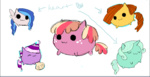 blob cheap_recolors cupcake_(pony) flitterheart lucky_swirl lyra_heartstrings mspaint needsmoarg4 redesign ribbon_heart
