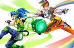 amarcato costume crossover humanized lucio overwatch rainbow_dash tracer vinyl_scratch