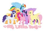applejack fluttershy highres main_six pinkie_pie pon3boi princess_twilight rainbow_dash rarity twilight_sparkle