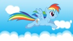 highres rainbow_dash shelltoontv vector wallpaper