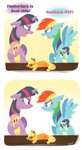 applejack comic earring flutterjack fluttershy highres rainbow_dash rarijack rarity scrunchy_face shipping spacekitsch twidash twilight_sparkle