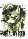 crossover escagorouge fluttershy metal_gear_solid