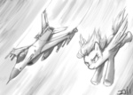general_dynamics_f-16 grayscale jet johnjoseco rainbow_dash