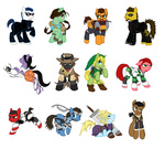 adam_jensen chell cloud_strife commander_shepard crossover crowbar deus_ex ericaleev final_fantasy final_fantasy_vii gordon_freeman half_life jc_denton john_marston lara_croft link mass_effect metal_gear_solid nathan_drake nintendo ponified portal red_dead_redemption shield solid_snake sword the_legend_of_zelda tomb_raider uncharted weapon