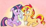 baekgup cup sunset_shimmer twilight_sparkle