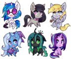derpy_hooves octavia_melody pekou queen_chrysalis starlight_glimmer the_great_and_powerful_trixie vinyl_scratch