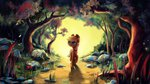 applejack flowers forest highres inowiseei scenery