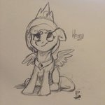 absurdres highres navigatoralligator princess_luna sketch traditional_art woona