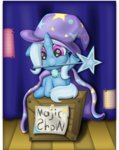 box filly highres the_great_and_powerful_trixie thebubbleqat wand