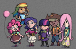 applejack crossover dalapony fluttershy humanized main_six pinkie_pie rainbow_dash rarity the_legend_of_zelda twilight_sparkle wind_waker