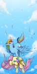 fluttershy i_shall_not_use_my_hooves_as_hands mousu rainbow_dash