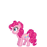 animated deathpwny pinkie_pie pixel_art transparent