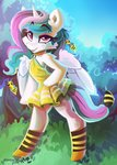 bees clothes costume dress highres princess_celestia saxopi socks