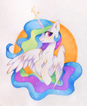 highres princess_celestia traditional_art zoliklispp