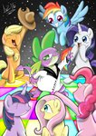applejack dancing disco fluttershy hat parody pinkie_pie rainbow_dash rarity spike twilight_sparkle