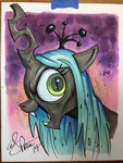 andy_price highres queen_chrysalis traditional_art
