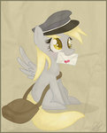 absurdres balloons504 border derpy_hooves hat highres mail mailbag