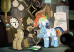 alternate_history bandage dsana eyepatch rainbow_dash time_turner