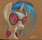getchanoodlewet headphones highres traditional_art vinyl_scratch