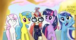 highres lemon_hearts majupaju minuette moondancer princess_twilight sweater twilight_sparkle twinkleshine waving