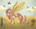 bird bunny butterfly dreampaw fluttershy highres squirrel