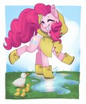 absurdres boots clothes duck highres pinkie_pie puddle taytinabelle