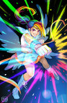 anime humanized ponytail punch rainbow_dash sailor_moon watermark youkaiyume