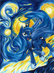 parody princess_luna seraphim-scion the_starry_night vincent_van_gogh