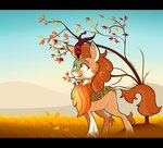 absurdres autumn autumn_blaze highres kirin tehshockwave tree