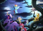 applejack fluttershy highres main_six pinkie_pie rainbow_dash rainbowjune rarity twilight_sparkle vine