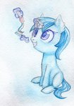 0okami-0ni filly highres magic minuette toothbrush toothpaste traditional_art