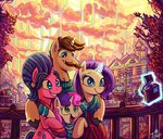 absurdres camera cookie_crumbles highres hondo_flanks jowybean magic rarity scenery sweetie_belle